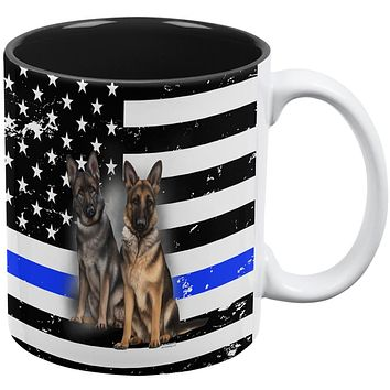 Thin Blue Line K9 Unit German Shepherd Live Forever All Over Coffee Mug