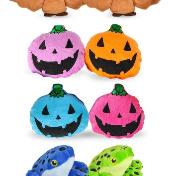 "8 Pack Halloween Party Mini 4"" Stuffed Animals, Variety of Creepy Crawly Animal Toys, Party Favors for Kids"