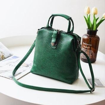 SERPENTINE VEGAN LEATHER BACKPACK