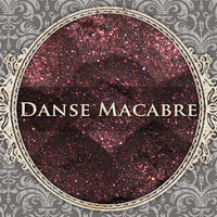 DANSE MACABRE Mineral Eyeshadow: 5g Sfter Jar, Dark Burgundy Red, Natural Cosmetics, Shimmer Eyeshadow