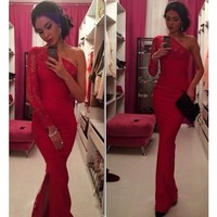 Donna Red Maxi