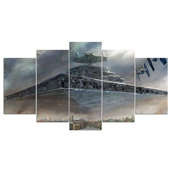 FAST US Ship - Star Wars Imperial Star Destroyer 5 Piece Panel Print