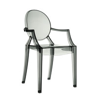 Philippe Starck Style Louis Ghost Arm Chair Smoke