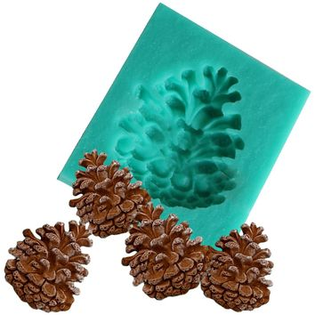 Decor Pine Nuts Cone Silicone Fandont Mold Silica Gel Moulds Chocolate Candy Mould Gumpaste