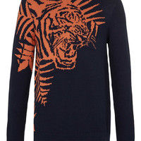 Navy Tiger Sweater - New This Week - New In - TOPMAN USA