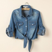 A 080902  Cultivating wild cowboy shirt jacket small shawl waistcoat