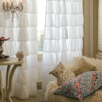 Single Ruffle Curtain