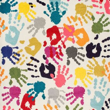 nuLOOM Pinkie Handprint Multi-Color Rug