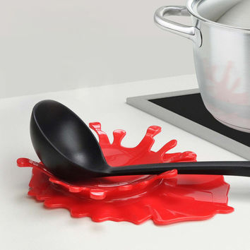 2 in 1 Splash Sauce Spoon & Utensil Holder
