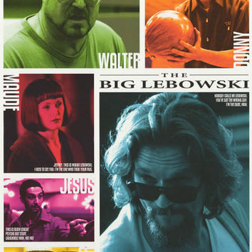 Big Lebowski Character Quotes Poster 24x36