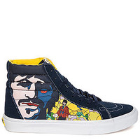 The Vans x The Beatles Faces Sk8-Hi Reissue in Submarine Yellow and Blue