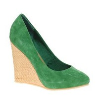 Suede & Raffia Wedge Shoe