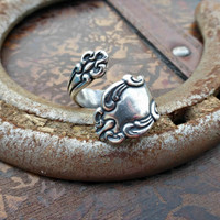 Spoon Ring. Sterling silver ring, silver jewelry, bohemian fashion accessories.
