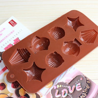 Sea Shell Fish Silicone Cake Mould Chocolate Pudding Mold Kitchen Cake Tools = 1705251524