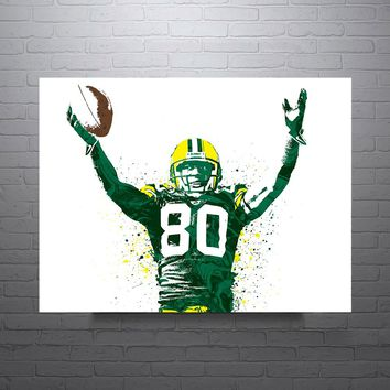 Donald Driver Horizontal Green Bay Packers Poster