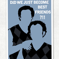 "Step Brothers Sweaters ""Did we just become best friends"" Vector Art Print"