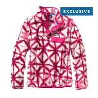 Patagonia Women's Synchilla® Recycled Fleece Lightweight Snap-T® Pullover | Diamond Dancer: Radiant Magenta