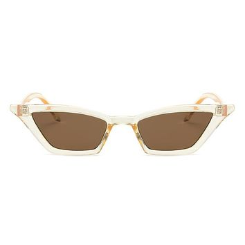 Retro Kitty Cat Sunglasses - Clear Brown