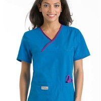 Buy Urbane Womens Double Pocket Crossover Nursing Scrub Top for $21.95