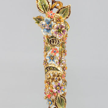 Floral and Vine Mezuzah - Jay Strongwater