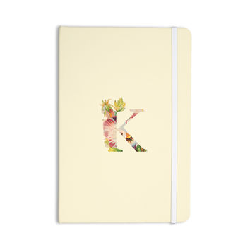 "KESS Original ""Floral Monogram"" Everything Notebook"