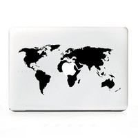 Earth World Map Travel Sticker Decal for Mac Laptops - PC, iPad & iPhone Versions Available too.