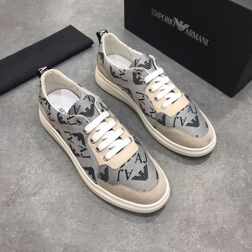 Best quality A|X Armani Exchange Men's Low Rise Leather Lace Up Cow Suede Loafer Sneaker Emporio Armani Men Logo Penny Loafer SHOES 2020 New Arrive