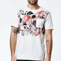 On The Byas Bam Floral Chest Crew T-Shirt - Mens Tee