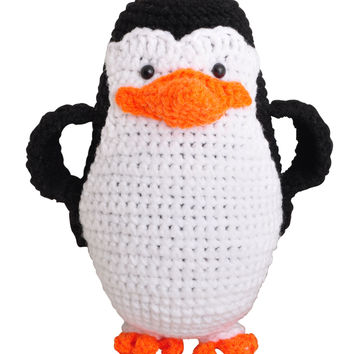 Penguins of Madagascar Handmade Amigurumi Stuffed Toy Knit Crochet Doll VAC