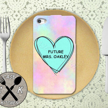Future Mrs. Oakley Pastel Pink Tumblr Candy Heart Cute Rubber Tough Case iPhone 4/4s and iPhone 5 and 5s and 5c and iPhone 6 and 6 Plus +