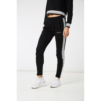 Black Stripe Joggers