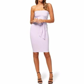 Dress Women Lace Up Straps Soft Pencil Tight Night Party Off Shoulder Dress Robe Femme Ete #G