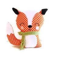 Fox Bookend or Fox Softie Sewing Pattern Easy PDF Stuffed Toy Sewing Pattern for Woodland Nursery, Home Decor