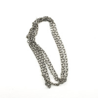 "48"" x 5mm Stamped Oval Loop Chain (Hematite)"