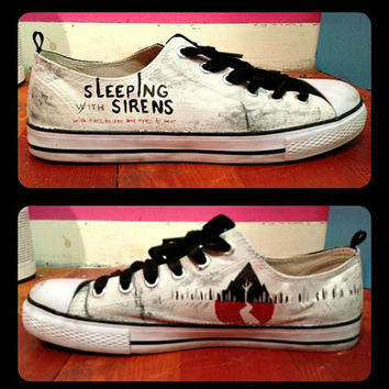 Sleeping With Sirens Shoes by RisingRedFox on Etsy