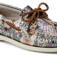Sperry Top-Sider Authentic Original Iridescent Python 2-Eye Boat Shoe NaturalIridescentPython, Size 5M  Women's Shoes