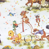 Vintage Nursery Wallpaper Going to the Fair Made in England 1 Roll