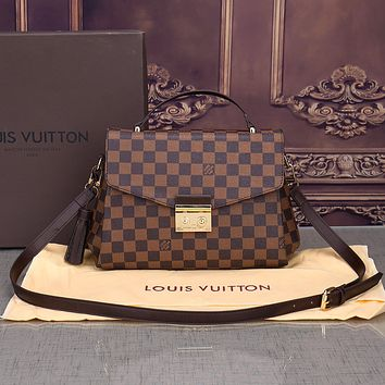 Louis Vuitton Women Shopping Leather Crossbody Satchel Shoulder Bag