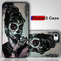 Sugar Skull Audrey Herburn Custom iPhone 5 Case Cover