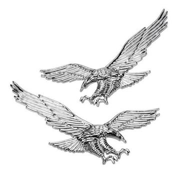 High Quality 1pair Of 3d Abs Eagle Stickers Car Stickers Personalized Car Body Modification Flag Stickers Car Styling