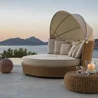 Point Ruedo Modern Wicker Outdoor Daybed - HomeInfatuation.com.