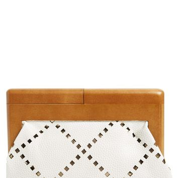 Sondra Roberts Perforated Faux Leather Frame Clutch | Nordstrom