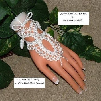 Pair Wedding Gloves Lace Fingerless Beach Wedding Gloves Bridal Jewellery Accessories Dress Gloves Formal White Lace Gloves Bridal Gloves