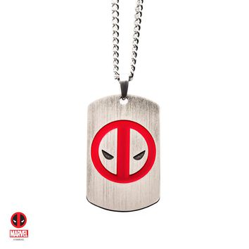 The Marvel Deadpool Tag Necklace - Chrome