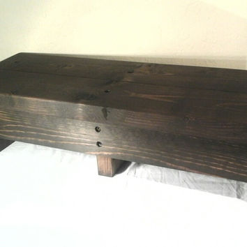 Extra-Long Step Stool, handmade,wooden, rustic (Kona)