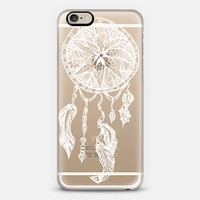 White transparent boho ethnic hand drawn lace dreamcatcher and feathers by Girly Trend iPhone 6s case by Girly Trend | Casetify