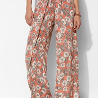 Pins And Needles Tie-Waist Tulip-Leg Pant - Urban Outfitters