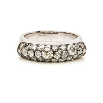 Grey Diamond Saddle Ring