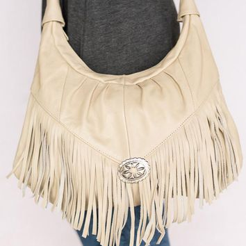 Fringe And Concho Gypsy Leather Purse