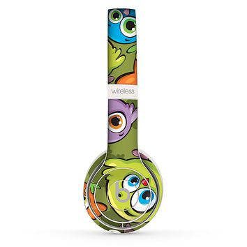 The Colorful Highlighted Cartoon Birds Skin Set for the Beats by Dre Solo 2 Wireless Headphones